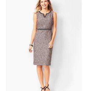 Talbots Tweed Split-neck Sheath Dress Plus 20W